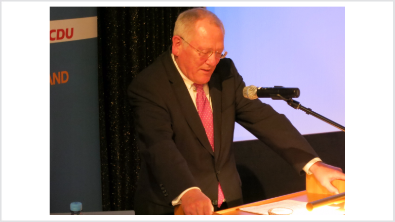 Dee Staatsminister a. D., Dr. Chriisteam Wagner, hob in seinem Grußwort konservative Werte hervor.