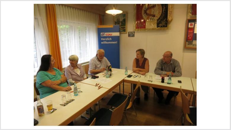Renate Jugel, Gisela Rehlich, Jürgen Rehlich, Karin Schaffner und Joachim Brunnet